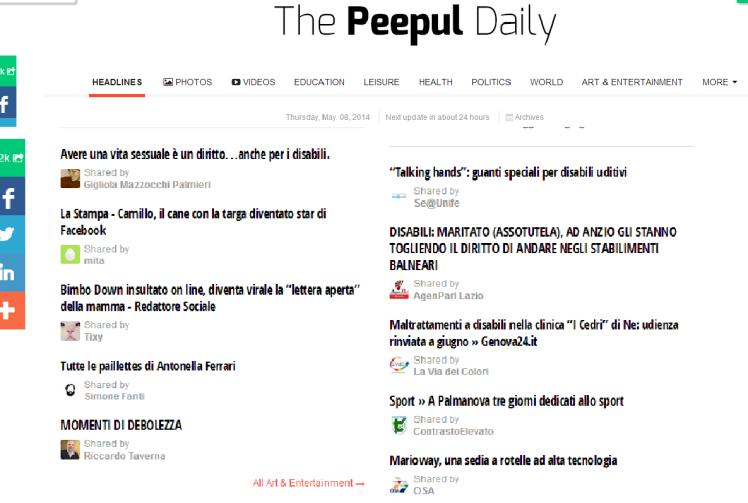Peepul Daily-Maggio 2014